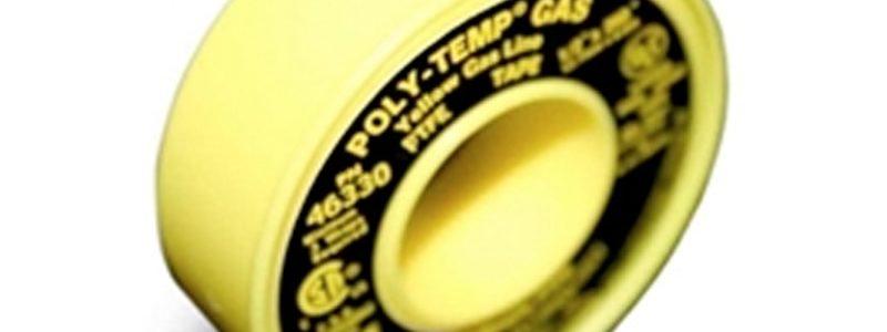 POLY-TEMP® GAS (XHD) – CINTA PTFE DE LÍNEA DE GAS AMARILLO